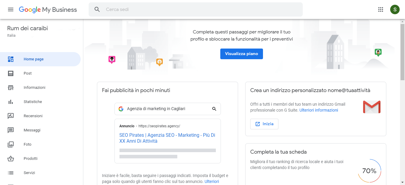Come funziona Google My Business - screen