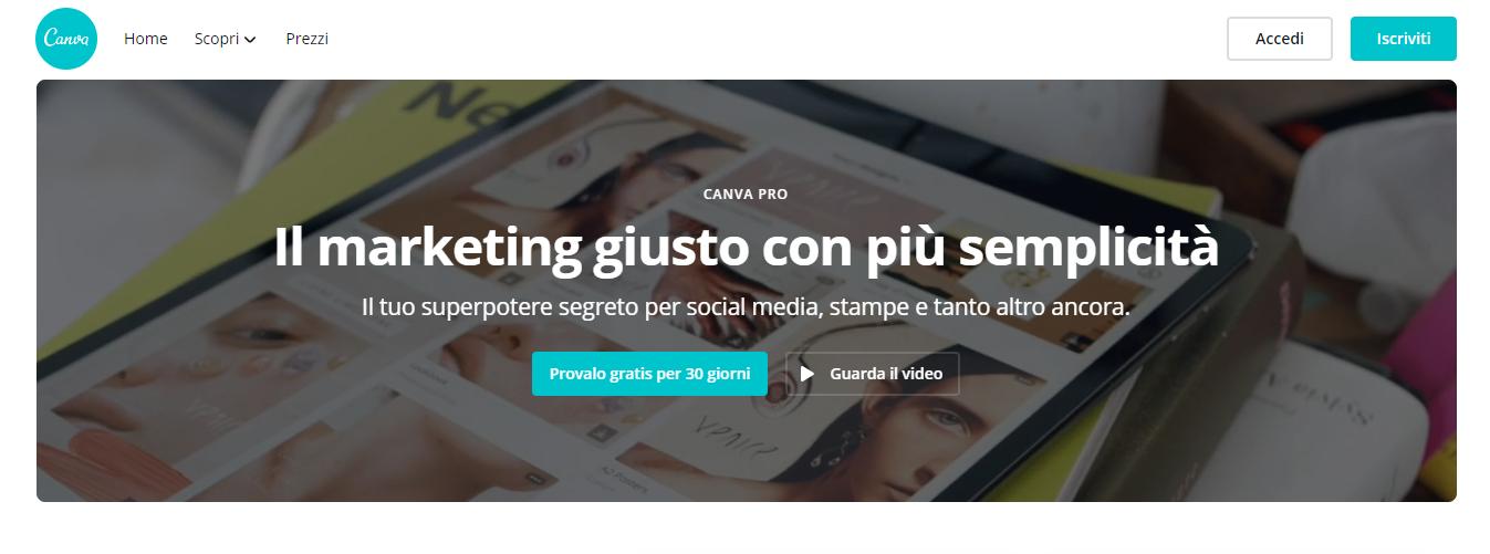 canva pro app per programmare post su instagram