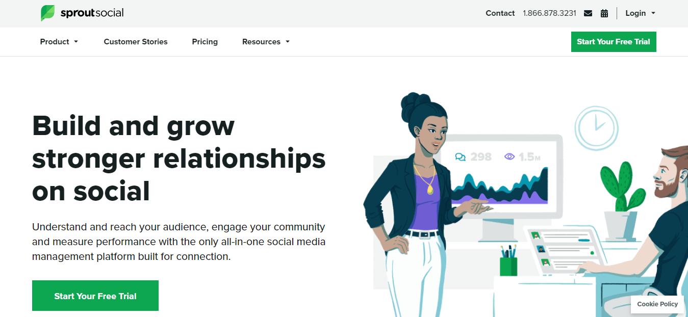 sproutsocial app per programmare post su Instagram