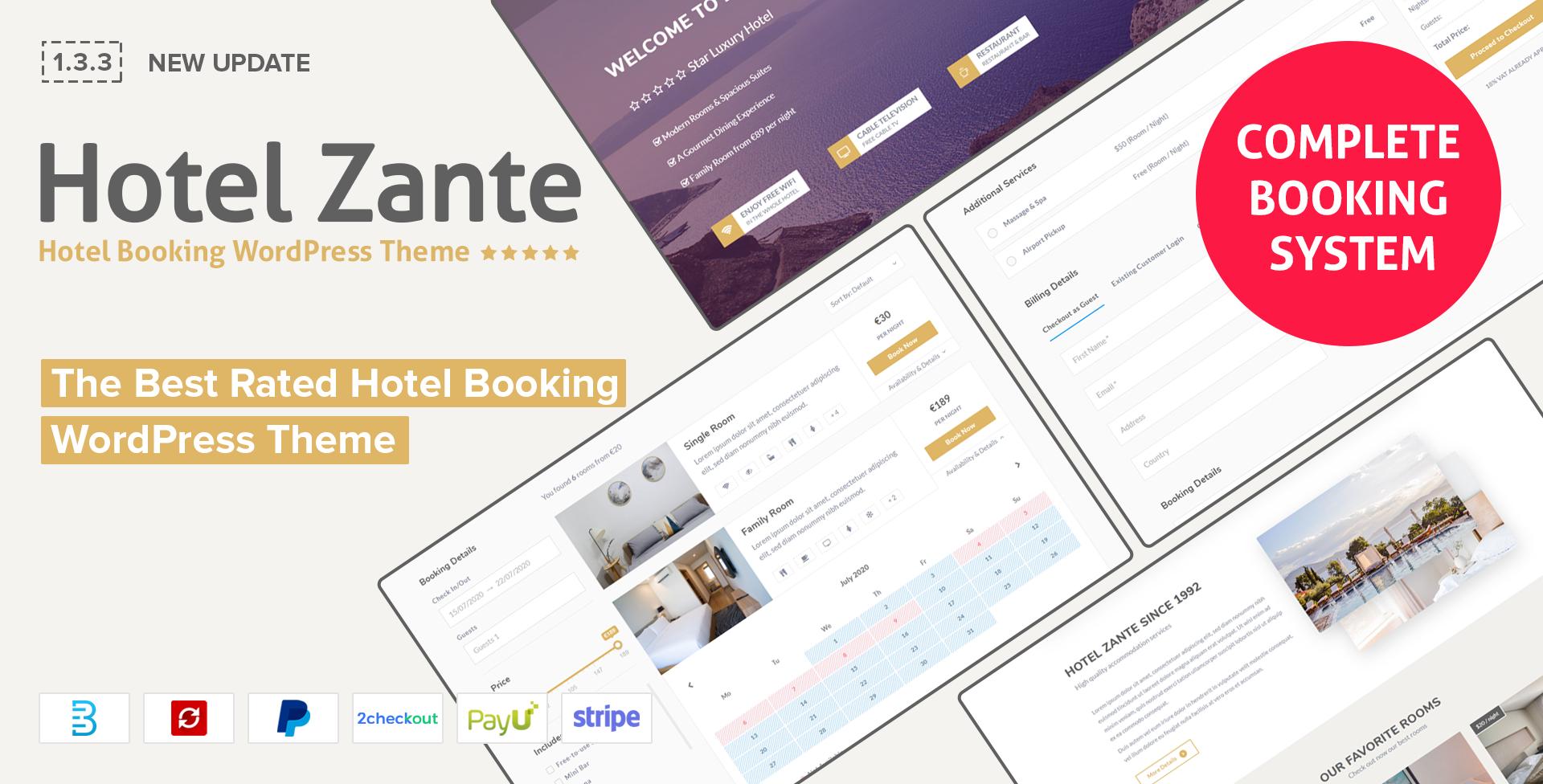 hotel zante i migliori temi wordpress per hotel