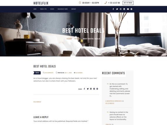 hotelflix i migliori temi wordpress per hotel