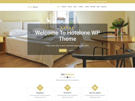 hotelone i migliori temi wordpress per hotel