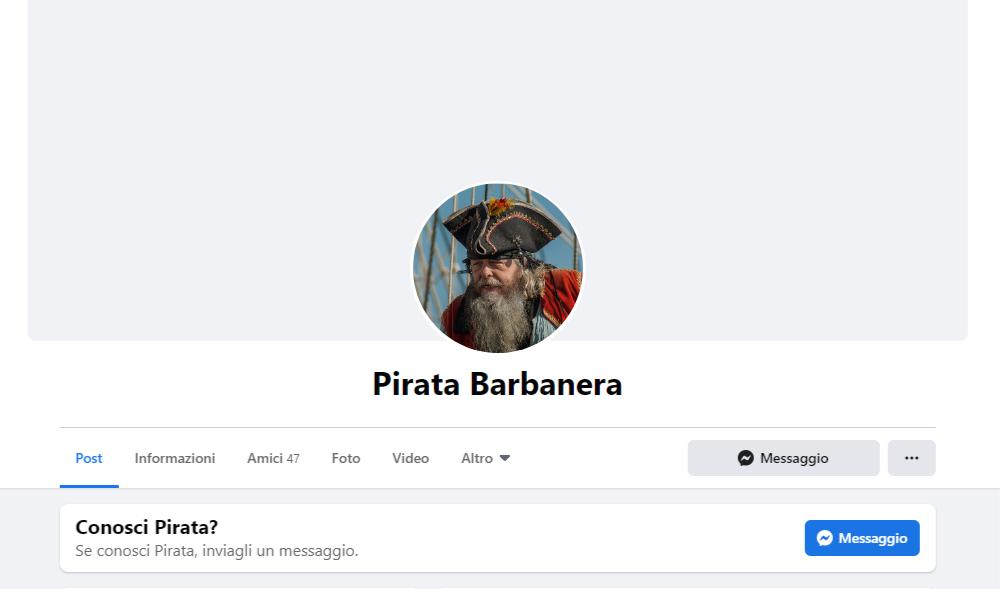 pirata barbanera profilo facebook differenza tra pagina e profilo